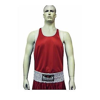 Morgan Boxing Singlet Red