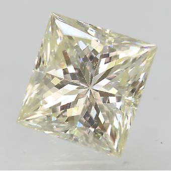 Certified 0.86 Carat I VVS2 Princess Enhanced Natural Diamond 5.32x5.01mm 2VG