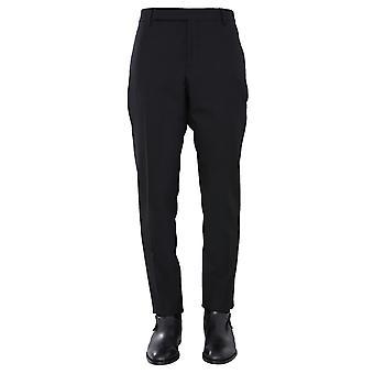 Saint Laurent 607843y640w1000 Men's Black Wool Pants