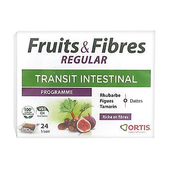 Fruits & fibres regular 24 cubes masticables