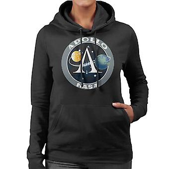 NASA Apollo Program Logo Badge Women's Hooded Sweatshirt