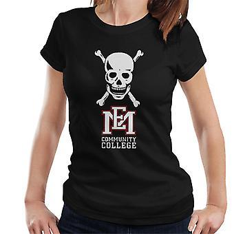 East Mississippi Community College skull logo kvinnor ' s T-shirt
