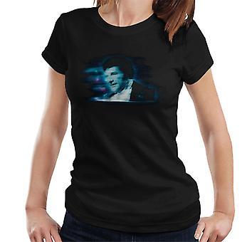 TV kertaa pianisti Liberace sininen staattinen naisten t-paita