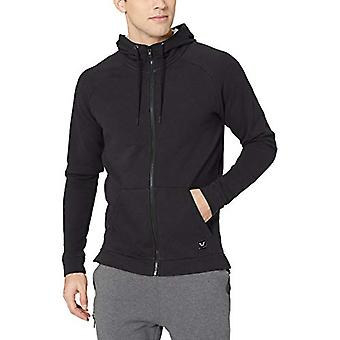 Peak Velocity Men's Français Terry Full-Zip Hoodie, noir, XX-Large