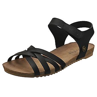 Mustang Single Strap Womens Casual Sandals in Black