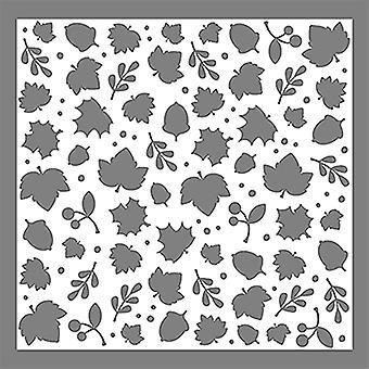 LDRS Creative Happy Fall 6x6 Inch Leaves Stencil