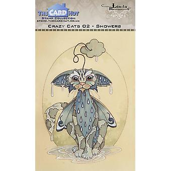 The Card Hut Crazy Cats Showers Clear Stamps