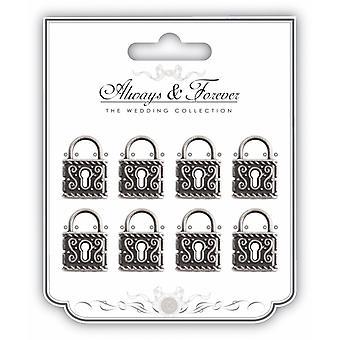 Craft Consortium Metal Silver Locks
