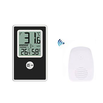 TS-WS-43 Wetter Digital Wireless Thermometer Weiß +Schwarz