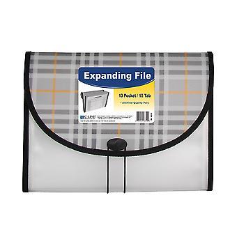 58312BNDL3EA, Archivo de expansión de tamaño de letra de 13 bolsillos, plaid (conjunto de 3 archivos)