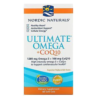 Nordic Naturals, Ultimate Omega + CoQ10, 1000 mg, 60 Soft Gels