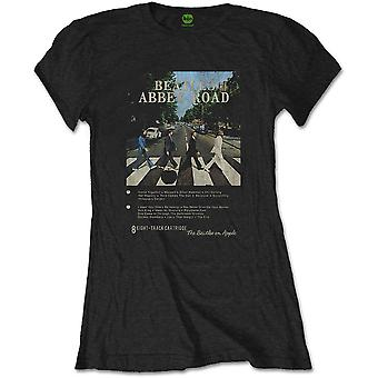 Ladies The Beatles Abbey Road 8 Track Official Tee T-Shirt Female