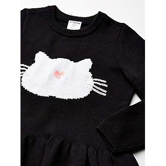 Brand - Spotted Zebra Girl's Peplum Sweaters, Cat, Large (10)