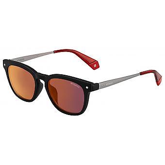نظارات شمسية للجنسين 6080/Soit/OZ مربع أسود / أحمر