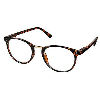 Reading glasses Unisex Libri_x brown thickness +1.0