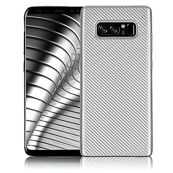 Shell pour Samsung Galaxy Note 8 Case Protection TPU Slim Armor Carbon Fiber Silver