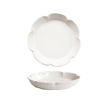 Plaque ronde en céramique Rétro Matte Color Plaques d'un dîner blanc