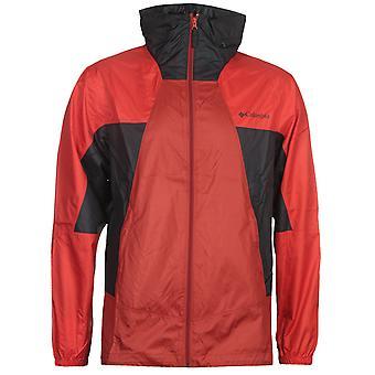 Columbia Red & Black Point Park Windbreaker Jacket