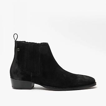 Base London Monroe Mens Leather Ankle Boots Black
