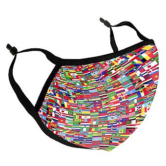 Flags Of The World Adult Reusable Fabric Face Mask