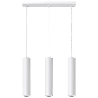 Sollux LAGOS - 3 Light Staight Bar Drop Pendant White, GU10