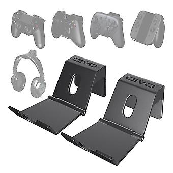 2-pack Wall Stand Holder For Ps4 Controller, Headphone Holder Universal