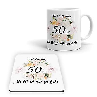 50s Birthday Mug + Coaster Package