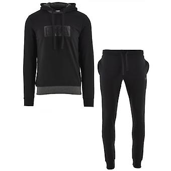 Emporio Armani Loungewear Black Hooded Long Sleeve Sweatshirt & Trousers
