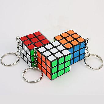 Magic Cubes Key Chain Pendant Twist Puzzle