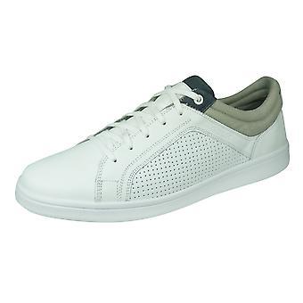 Geox U Warrens A Herren Leder Trainer / Sneakers - Weiß