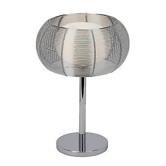 BRILLIANT Lampa Relax Bordslampa krom | 1x QT14, G9, 25W, lämplig för lampor med pennsockel (medföljer ej) | Skala A++
