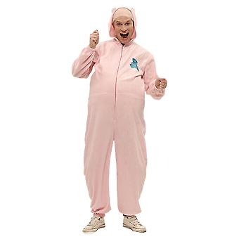 Mens Big Baby Pink Romper Festival Stag Night Group Fancy Dress Costume