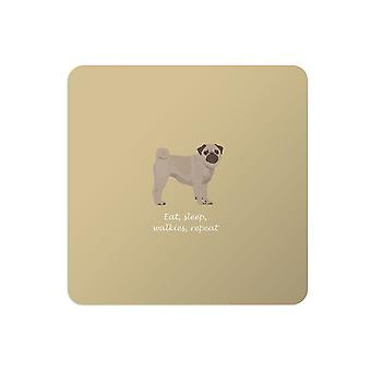 Bailey and Friends Dog Placemat Pug Mustard