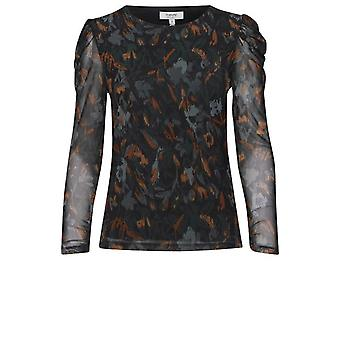 b.young Sannie Teal Patterned Top