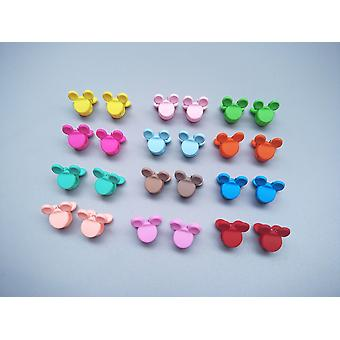 Cute Candy/flower/mickey Mouse/star Shape, Small Claw Hair Clips