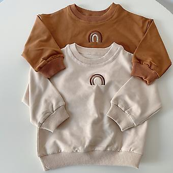الأطفال Pullovers الخريف، البلوزات، التوائم الملابس للفتيات قمم