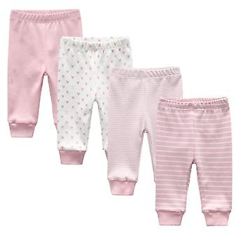 Baby Leggings Solid Striped 3-12m Newborn Baby Pants, Cotton Baby Trousers