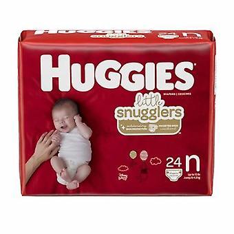 Kimberly Clark Unisex Baby Diaper Huggies Little Snugglers Newborn Disposable Heavy Absorbency, 24 Count