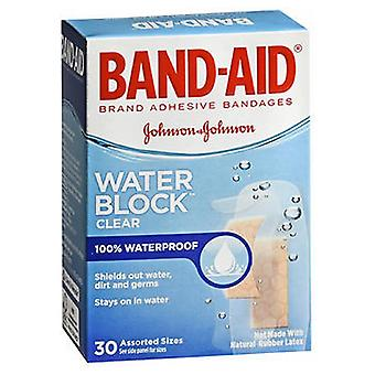 Band-Aid Water Block Plus Clear Transparent Adhesive Bandages, по 30