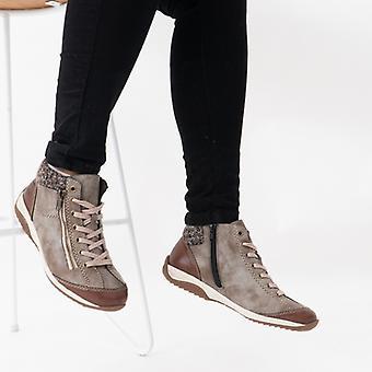 ريكر L5223-24 السيدات عارضة الرمز البريدي حتى الكاحل أحذية براون