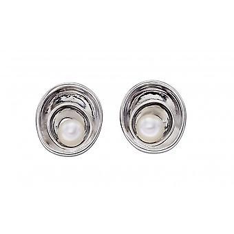 Fiorelli Silber Wirbel Süßwasser Perle Ohrringe E5797W