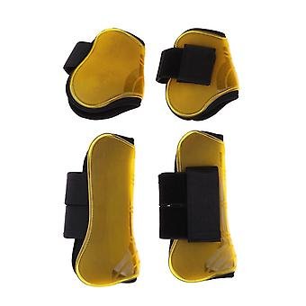 Horse Leg Boots, Front Hind Leg, Tendon Protect Equestrian, Pu Shell And