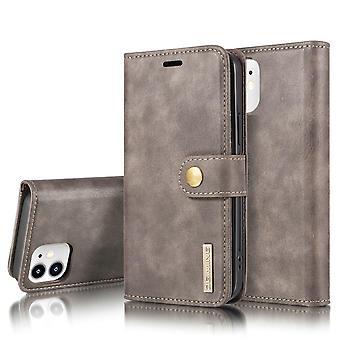 Dg. MING iPhone 12 Mini Split Leather Wallet Case - Grey