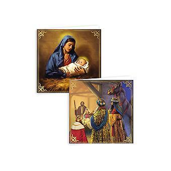 Anker Xmas Kortit Uskonnollinen Perinteinen x10 XAJGC815