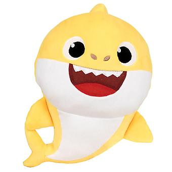 Baby Shark Yellow Stuffed Toy With Sound Stuffed Plysch Yellow 28cm