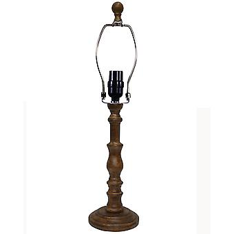 Brown Classic Candle Stick Shape Table Lamp Base