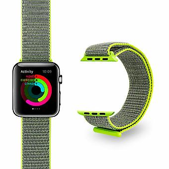 Nylon Strong Sports Bandas de Reemplazo para Apple Watch, Lime, 42mm