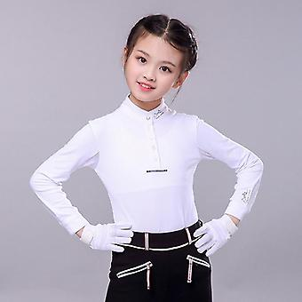 Children's Equestrian Long Sleeve T-shirt Horse Riding Clothing Sunscreen