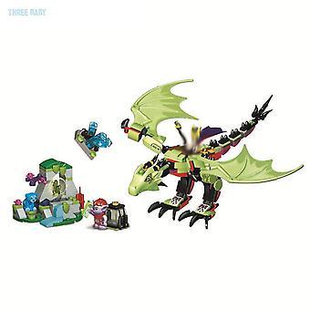Nova série de elfos dragon fit elfos fada fada lepining figuras edifício