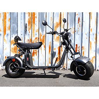 """Fatboy City Coco Smart E Electric Scooter Harley - 8 """"- 1500W - 20Ah - A Class - Gray"""